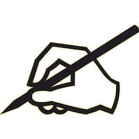 hand and pen icon